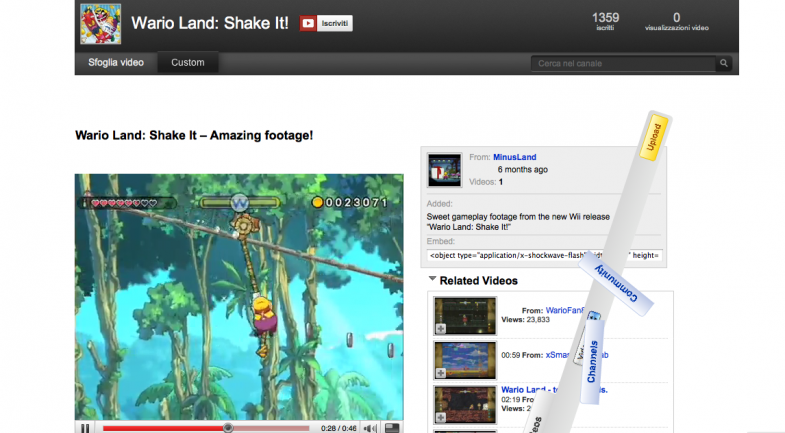 Wario shake, you tube creativity