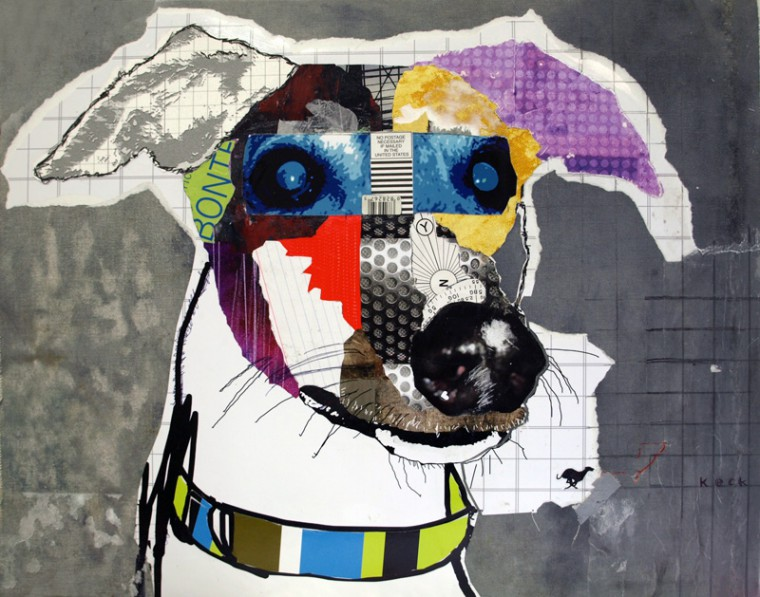Greyhound Dog Pop Art Collage