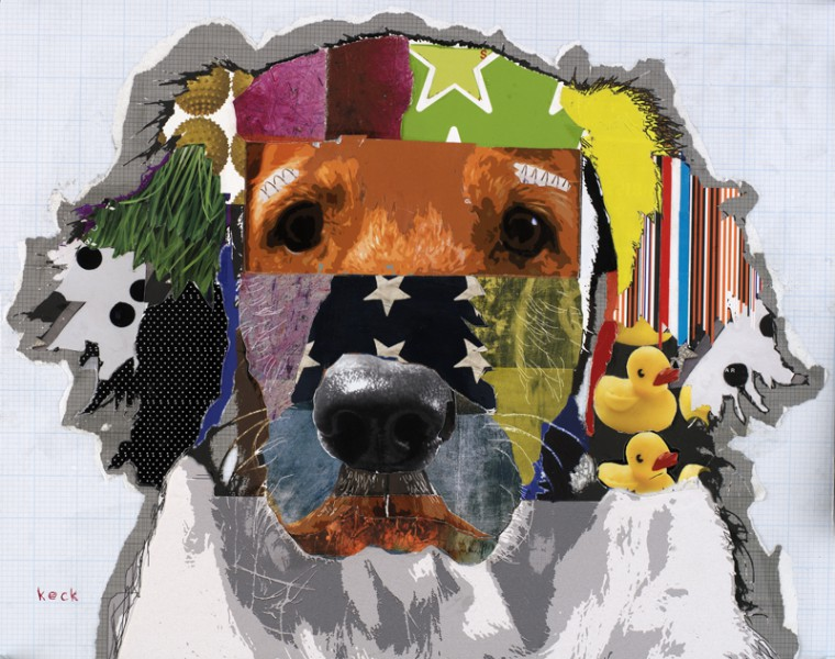Golden Retriever Dog Pop Art Collage