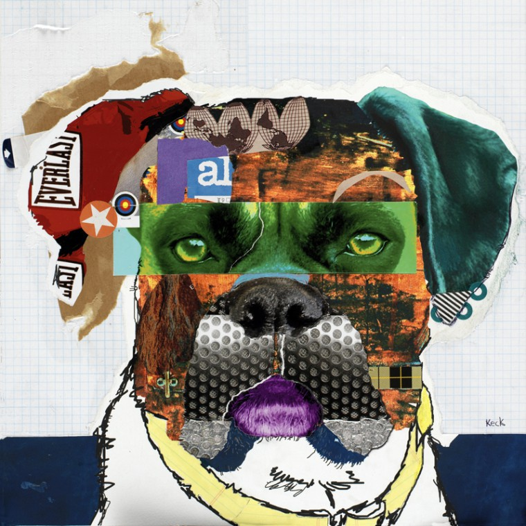 Boxer Dog Pop Art Collage