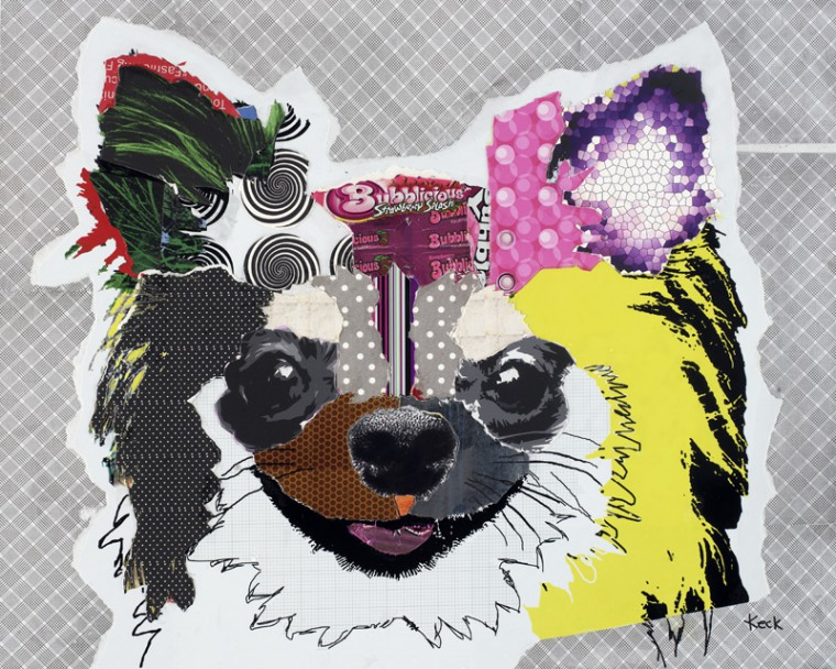 Chihuahua Dog Pop Art Collage