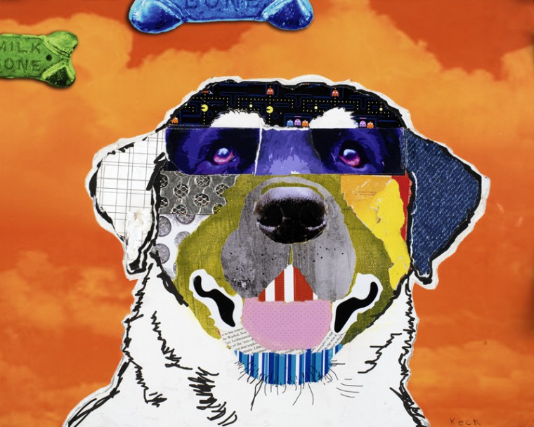 Labrador Dog Pop Art Collage