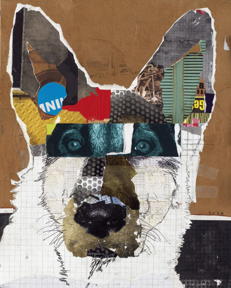 German Shepherd Dog Pop Art Collage