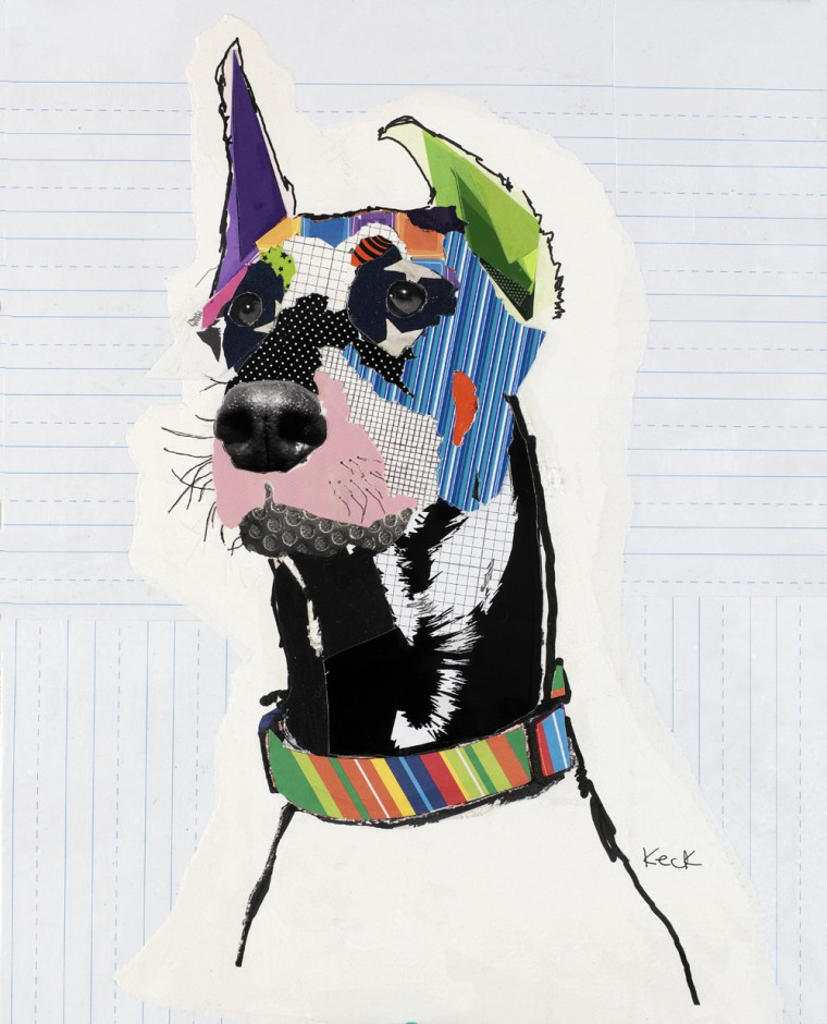 Doberman Pinscher Modern Pop Art Dog Collage
