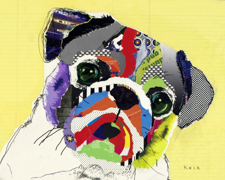 Pug Dog Pop Art Collage