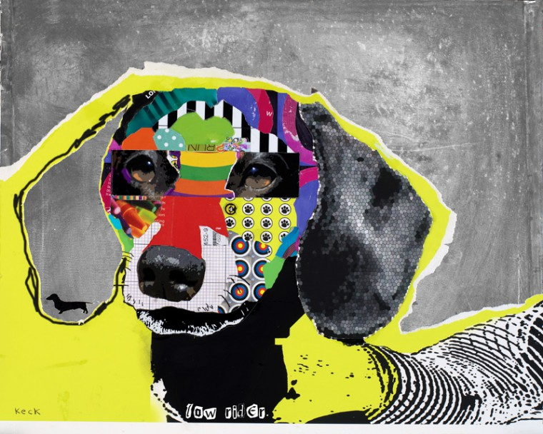 Dachshund Dog Pop Art Collage