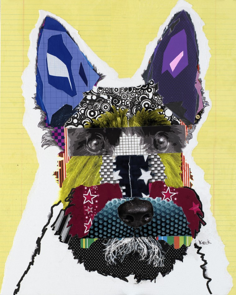 Scottish Terrier Modern Pop Art Dog Collage